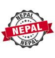 nepal round ribbon seal vector image vector image