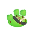 Park icon isometric 3d style vector image vector image