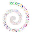 pharmacy tablet fireworks spiral vector image