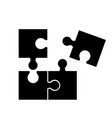 puzzel of black icons good game skill vector image