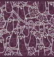 random seamless pattern with vegetarian food vector image