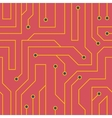 red circuit board background vector image