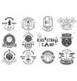 set basketball club badge concept vector image vector image