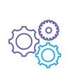 sihouette gears engineering industry process vector image vector image