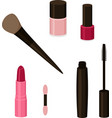 simple set of cosmetics related vector image vector image