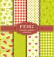 summer picnic seamless patterns set vector image vector image