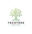 tech tree electrical circuit digital logo icon vector image