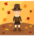 Thanksgiving Pilgrim Boy Cartoon vector image vector image