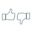 thumbs up and thumbs down social media icons vector image vector image