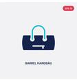 two color barrel handbag icon from clothes vector image vector image