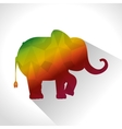 elephant low poly silhouette vector image
