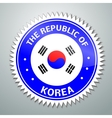 Korean flag label vector image