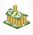 Money house on white vector image