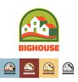 Big house - logo concept vector image