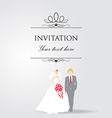 Just Married Wedding Couple vector image