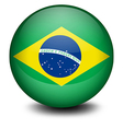 A ball with the flag of Brazil vector image