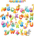 Alphabet for kids with pictures vector image