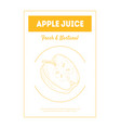apple juice fresh natural banner template with vector image vector image