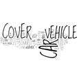 benefits of car covers how can they protect your vector image vector image