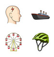 bicycle business medicine and other web icon in vector image vector image