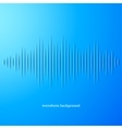 Blue paper sound waveform with shadow vector image