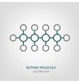 Butane Molecule Icon vector image vector image