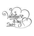 Caligraphic Text Valentines Day 2014 vector image vector image