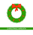 christmas wreath isolated vector image