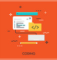 coding flat concept vector image