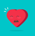 crying hurt heart face emotion icon or unhappy vector image vector image