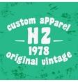 Custom vintage stamp vector image vector image