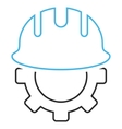 Development Hardhat Outline Icon vector image