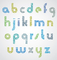 Digital contemporary font with hand drawn curly vector image