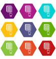 digital lock icons set 9 vector image vector image