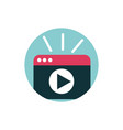 digital marketing website video player content vector image