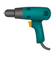 electric drill mockup realistic style vector image vector image