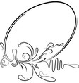 elegant oval frame for your design ilustration vector image vector image