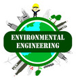environmental engineer ecology conceptsave world vector image