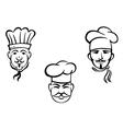 European restaurant chefs vector image vector image