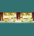 fast food cafe interior empty cafeteria design vector image vector image