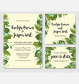 floral cute watercolor set template of wedding vector image