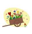 flower arrangement from blooming hearts in the vector image