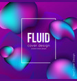 fluid shapes background vector image