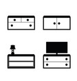 furniture set in black and white color vector image vector image