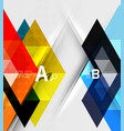 futuristic triangle tile background with options vector image vector image