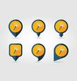 garden rake flat pin map icon vector image vector image