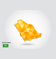 geometric polygonal style map of saudi arabia low vector image vector image