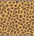 giraffe skin texture simple seamless pattern vector image vector image