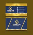 golden blue business card visiting card vector image vector image