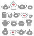 grey kitchen pots vector image vector image